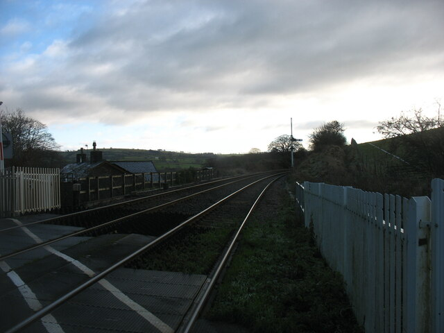 The Settle to Carlisle line at Low House Crossing