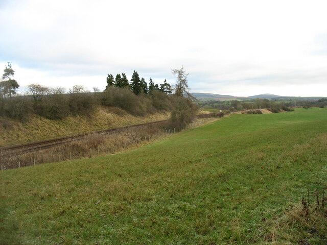 The Settle to Carlisle line near Duncowfold