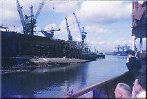 NS5566 : Slipways of Fairfields Shipyard on the Clyde by Nigel Mykura