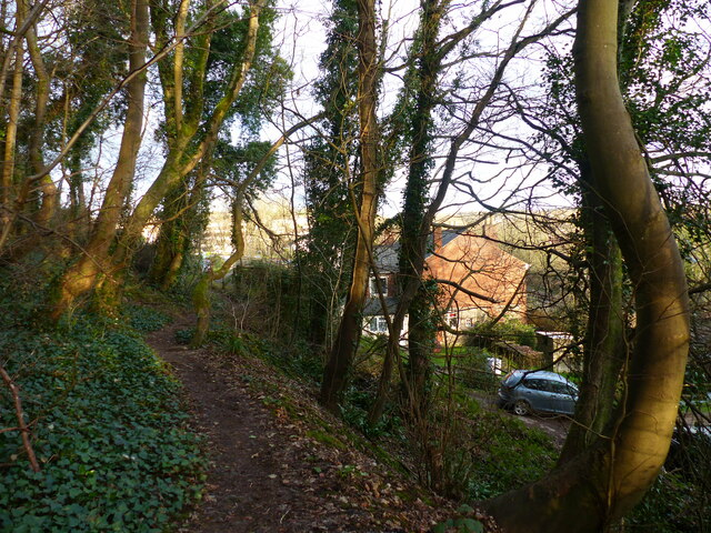 Footpath from Severn Crescent to the disused quarry, Chepstow