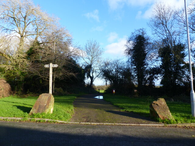 Entrance to the Bulwark Fort playing field, Bulwark, Chepstow