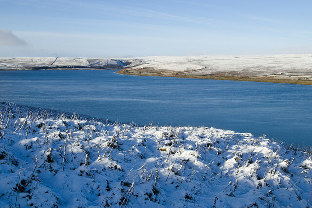 Snow by Grimwith Reservoir