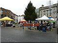 TR3141 : Christmas market and tree by John Baker