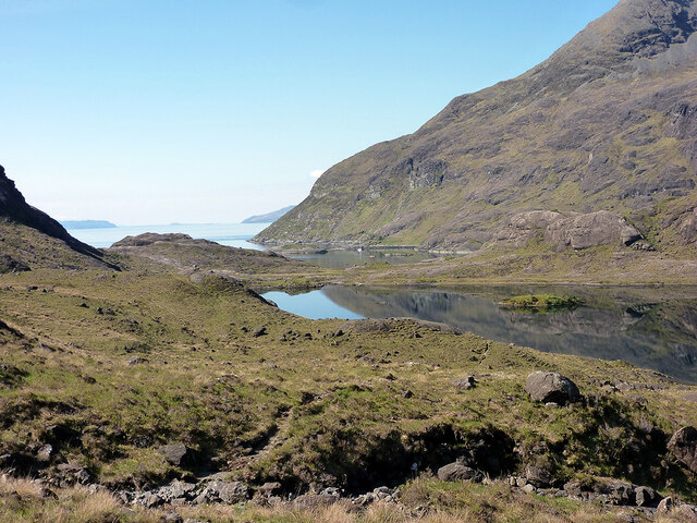 Loch Coruisk and Loch na Cuilce by John Lucas