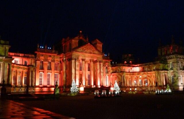 Blenheim Illuminations - (1) - Palace frontage (1)