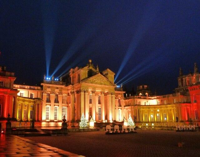 Blenheim Illuminations - (2) - Palace frontage (2)