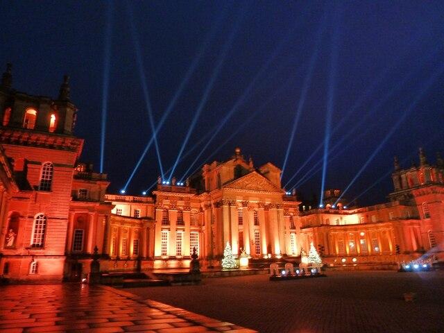 Blenheim Illuminations - (3) - Palace frontage (3)