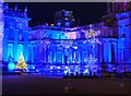 SP4416 : Blenheim Illuminations - (4) - Palace frontage - Snowflakes by Rob Farrow