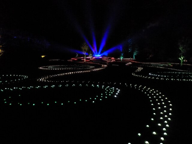 Blenheim Illuminations - (10) - Main illuminated feature (2)