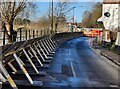 SO7875 : Flood barriers on Stourport Road, Bewdley by Mat Fascione