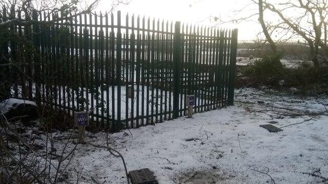 Fenced-Off Area near Carmelhill Reservoir
