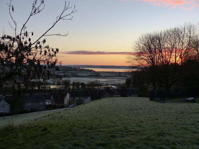 Sunrise on the last day of 2020 - Piggy's Hill park, Garden City, Chepstow