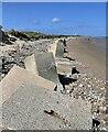 NJ2270 : Anti-tank blocks, Lossiemouth, Morayshire by Claire Pegrum