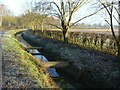 SK6441 : Drainage dyke with pipes by Alan Murray-Rust