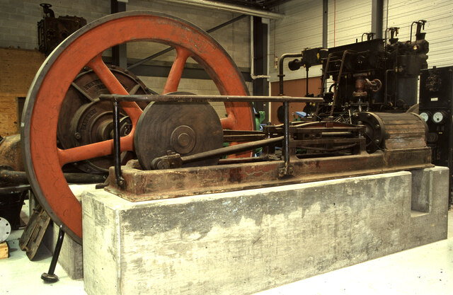 National Museums Collection Centre, Granton - steam engine from  a gasworks