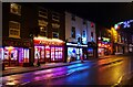 SO8071 : Businesses in Bridge Street at night (Christmas 2020), Stourport-on-Severn, Worcs by P L Chadwick