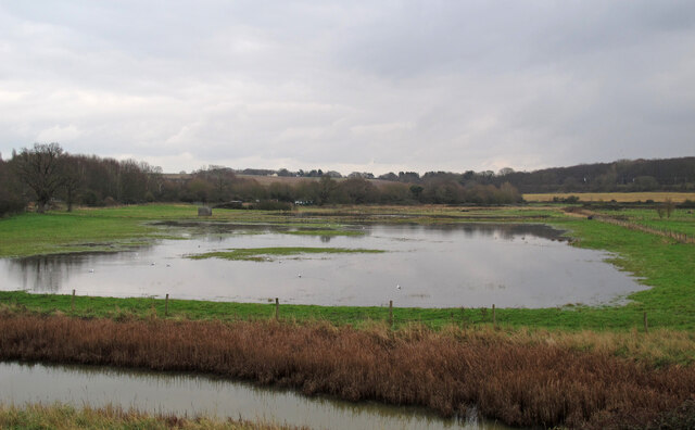 Flooded fields at Wrabness