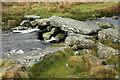 SX6566 : Clapper bridge over the Avon by Derek Harper