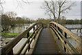 SU6191 : Footbridge near Benson Lock by Bill Boaden