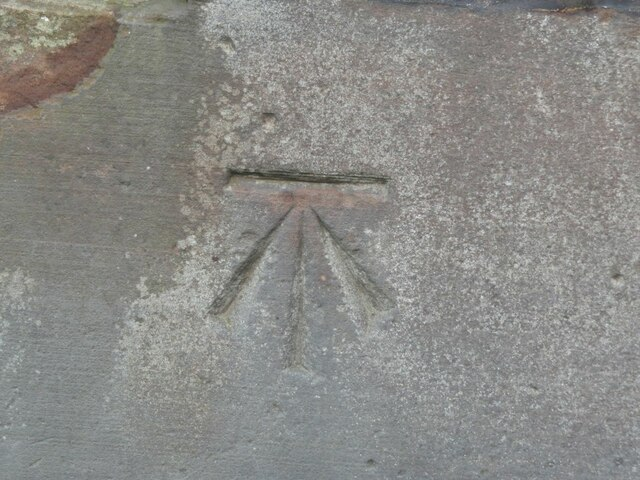 Benchmark on gatepost, Kinglassie Primary School