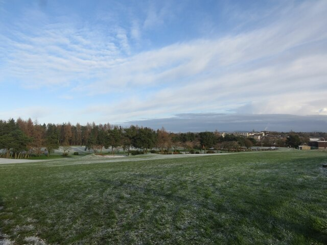 The north part of Glenrothes Golf Course in winter