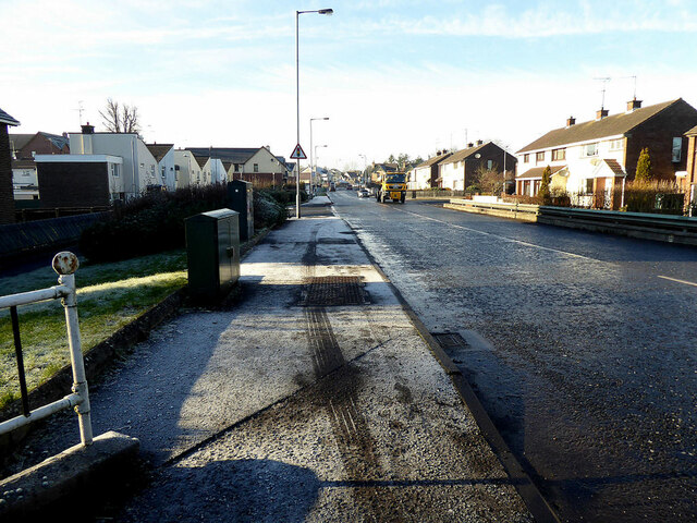 Frosty footpath along Hospital Road, Campsie, Omagh