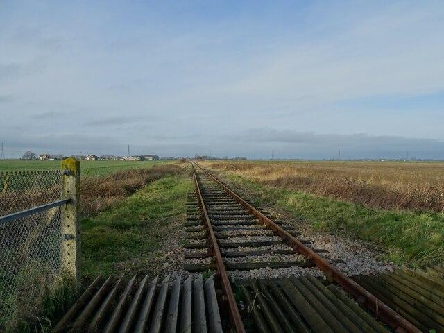 Railway at Caldecot Crossing