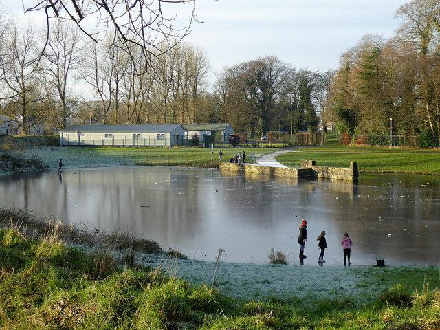 On the ice, Omagh Boating Pond