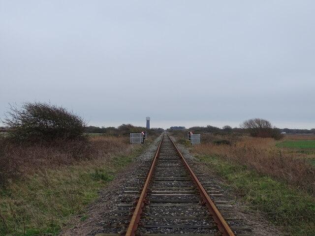 Railway line towards waterworks