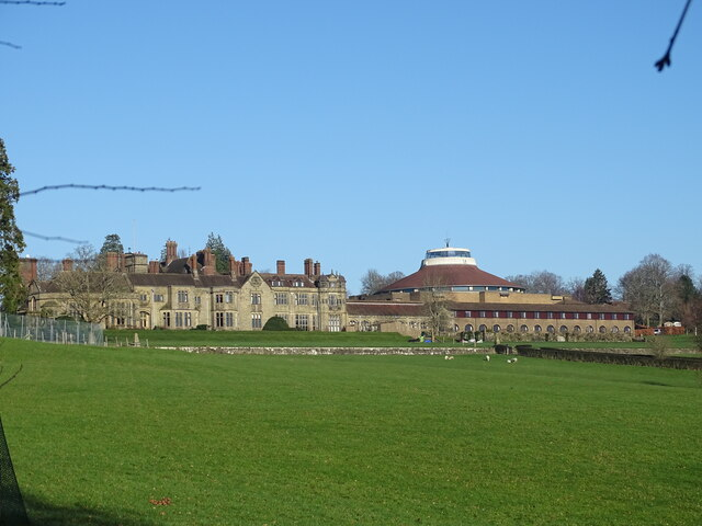 View towards Worth Abbey