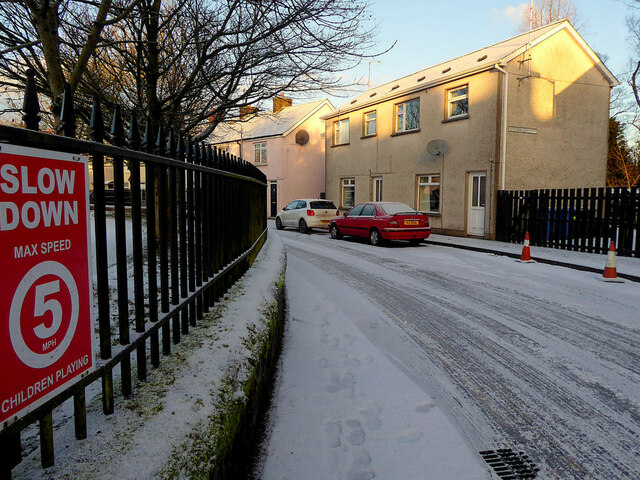 Wintry along Campsie Crescent, Omagh