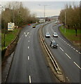 ST3188 : North along the A4042, Newport by Jaggery