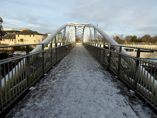 Icy along the footbridge, Omagh