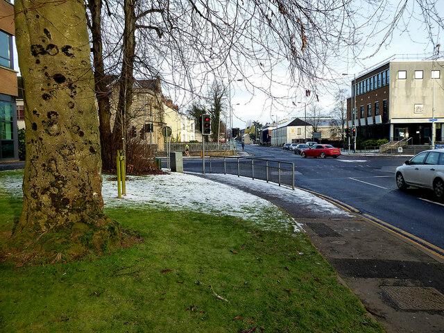 Remaining snow along Mountjoy Road, Omagh