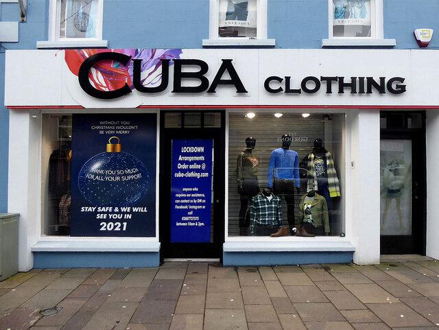 Cuba Clothing, Market Street, Omagh