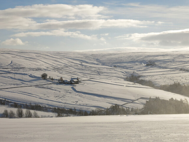East Allen Dale around Sinderhope in the snow