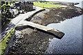 NN0559 : Slipway below Ballachulish Bridge by Trevor Littlewood