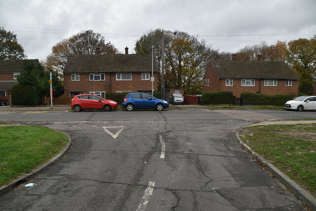 Coneyburrow Rd, Sherwood Rd junction by N Chadwick