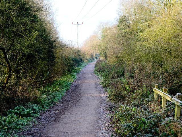 West on Weavers Way from former Railway Bridge