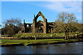 SE0754 : Bolton Priory from across the River Wharfe by Chris Heaton