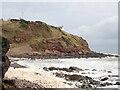 NO7664 : The Old Red Sandstone Cliff, below Rock Hall by Nigel Feilden