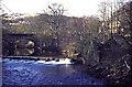 SD9926 : Weir at Mayroyd, Hebden Bridge by Chris Allen