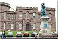 NH6645 : Inverness Castle and Flora MacDonald - July 1993 by Jeff Buck
