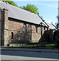 SO5012 : South side of a church, Cinderhill Street, Overmonnow, Monmouth by Jaggery