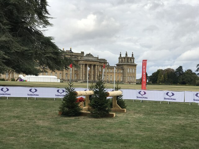 Cross-country fence 7 at Blenheim Horse Trials