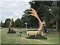SP4415 : Cross-country fences 8A and B at Blenheim Horse Trials by Jonathan Hutchins