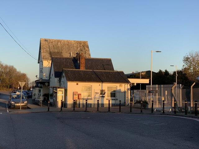 Gillingham railway station in November afternoon light