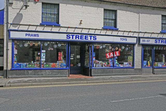 Window of Streets toyshop