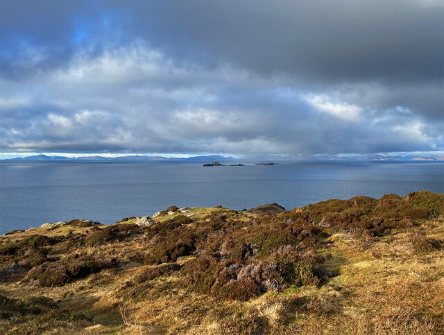 View from the clifftop at Meall Tuath