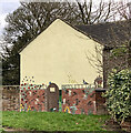 SJ7950 : Trompe-l'oeil mural on side of house in Audley by Jonathan Hutchins